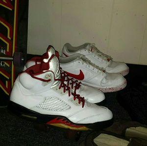 Vintage jordan fire red 5s